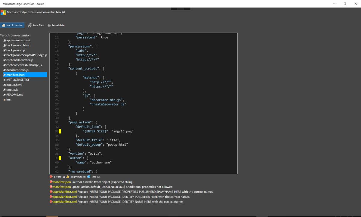 Microsoft Edge Extension Toolkit