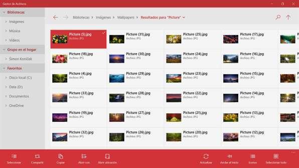 Gestor de Archivos Windows 10 PC 3