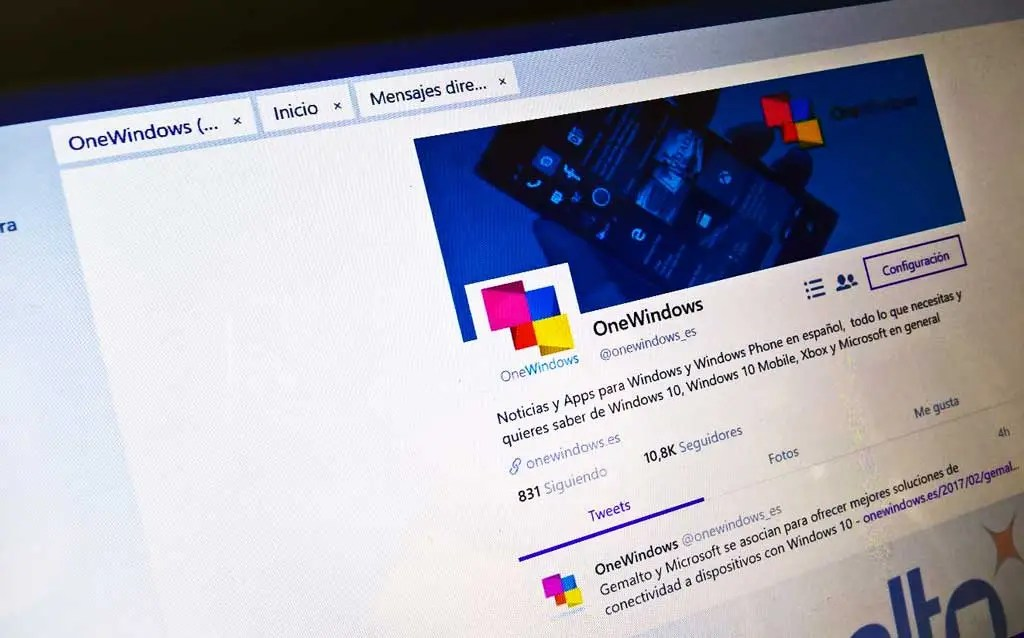 """Twitter para Windows 10 se actualiza y añade la función de """"Pestañas"""""""