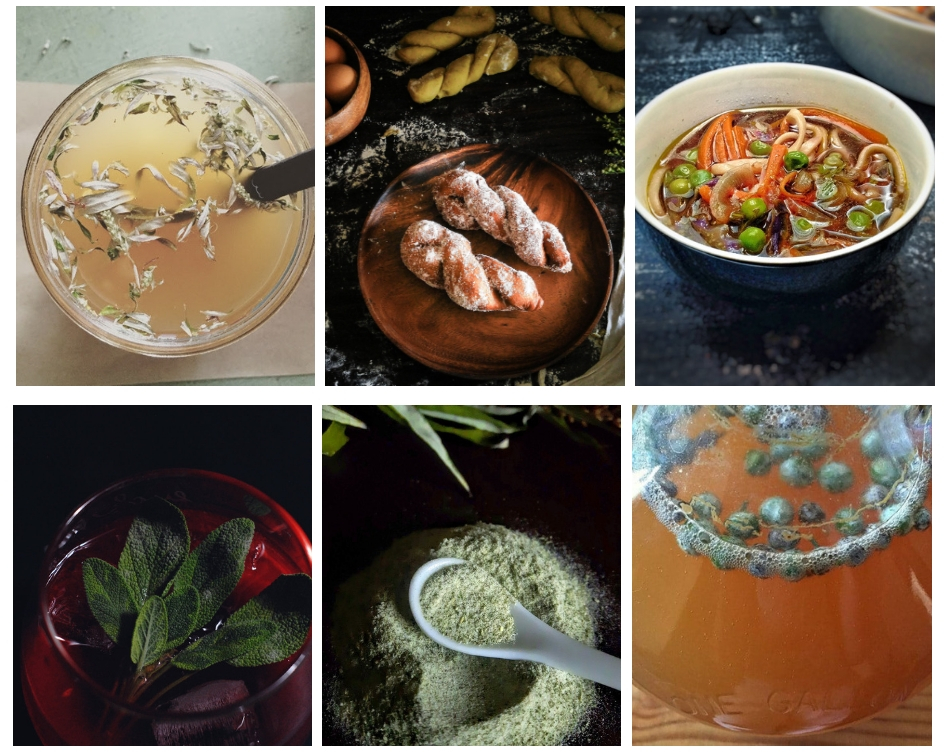 mugwort recipe collage