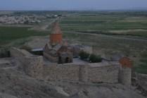Kloster Khor-Virap mit Grenzverlauf zur Türkei