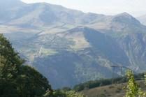 Blick zurück auf Kloster Tatev in beeidruckender Bergwelt