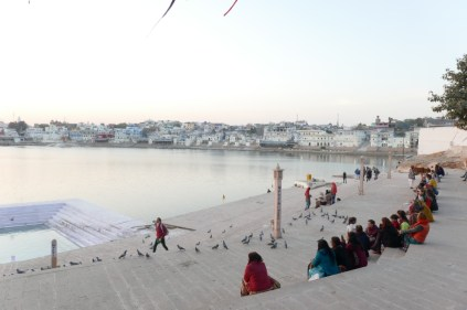 Abendstimmung am heiligen See von Pushkar.