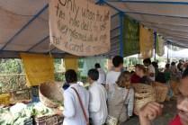 Organic Farmer Market am Sonntagmorgen in Mumbai.