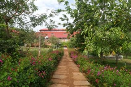 Die idyllische Anlage des Sivananda-Ashrams.