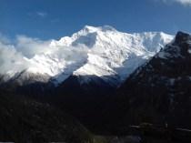 Welch wunderschöner Anblick: Annapurna II, mit 7937 m der sechzehnthöchste Berg der Erde.