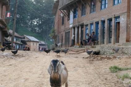 Dorfleben auf der Wanderung.