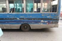 Die Busfahrer in der Innenstadt haben es meistens sehr eilig.