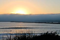 half moon bay, san francisco, california, convertible, sunset
