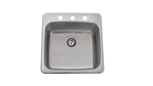 OD2020 8-3H, Drop-In, Stainless Steel, 3 Hole, Kitchen Sink