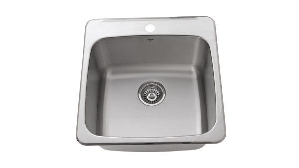 OD2020 10-1H, Drop In, Single Bowl, Stainless Steel, 1 Hole, Kitchen Sink