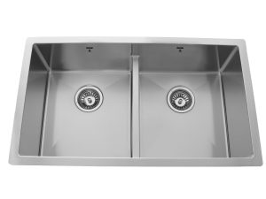 OU3118 SQR L, Undermount, Double Bowl, Low-Divide, Stainless Steel, Kitchen Sink in Canada