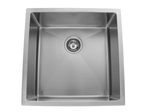 OUS2020 SQR R15, Single Bowl, Stainless Steel, Designer Collection, Onex Enterprises, Kitchen Sinks in Canada