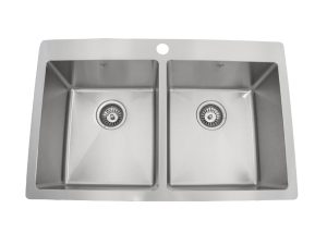 OD3120 SQR, Double Bowl, Onex Enterprises, Stainless Steel, Designer Collection, Drop In, Kitchen Sink in Canada