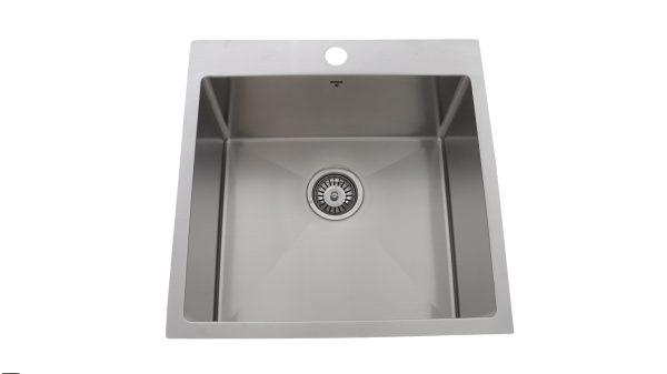 OD2020-SQR, Stainless Steel, Drop-In, Single-Bowl, Kitchen Sink