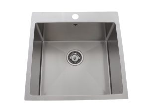 OD2020-SQR, Stainless Steel, Drop-In, Single-Bowl, Kitchen Sink