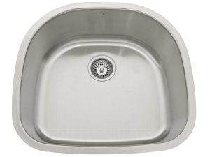 OUS2421 9, Single Bowl, Rear Drain, Undermount, Stainless Steel, Kitchen Sink in Canada