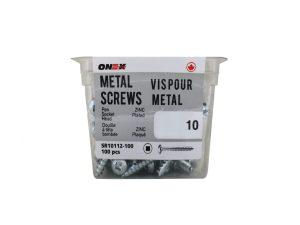 Pkg100, #12 RD HD Socket Sheet Metal Screws