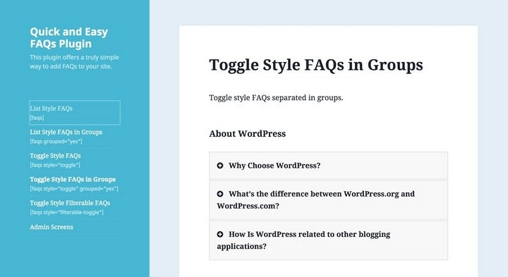 quick-easy-faq Top 10 WordPress FAQ Plugins For Improving Customer Support