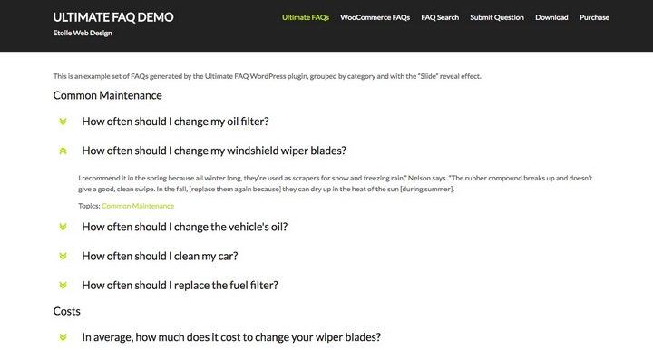 ultimate-faq Top 10 WordPress FAQ Plugins For Improving Customer Support