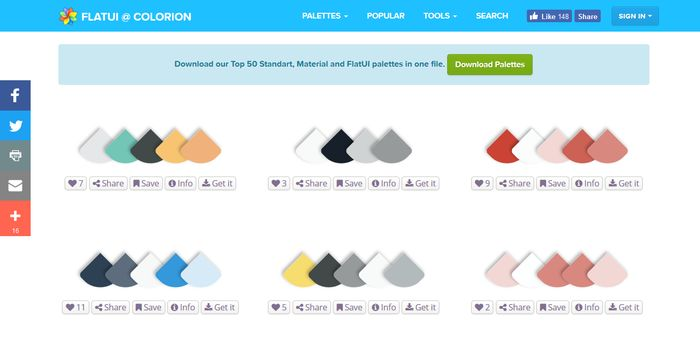 Colorion Color Palette Gallery
