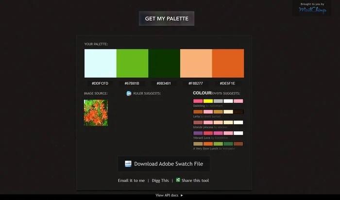 Pictaculous Color Palette Generator
