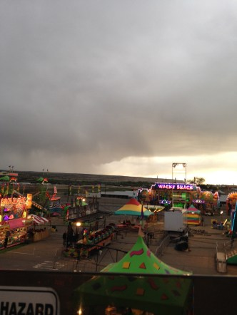 Carnival. We hit a few rides before it started pouring rain.