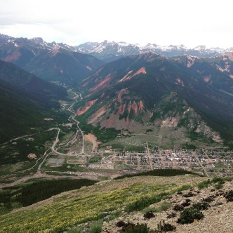 Silverton, CO. The view was worth the hike, in my vans, through the snow.
