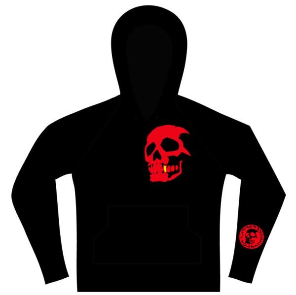 Hammerbrooklyn Girl M Red Skull Hoode
