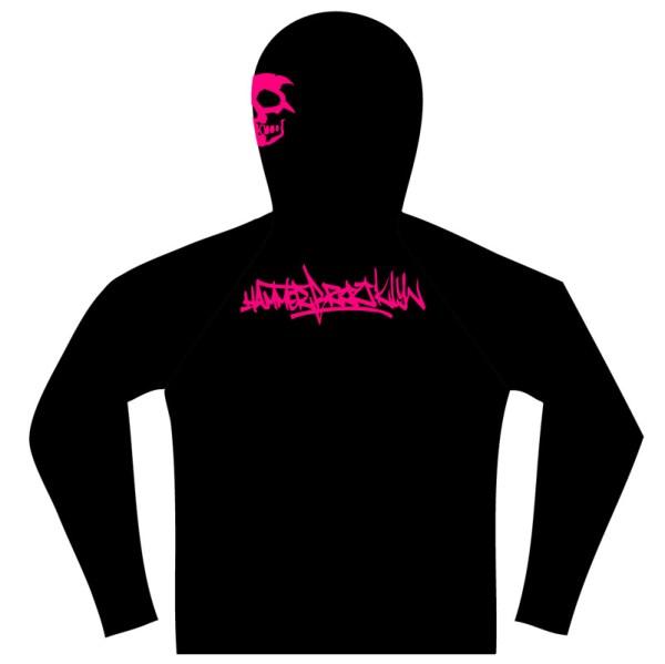 Hammerbrooklyn Girl M Pink Skull Hoode