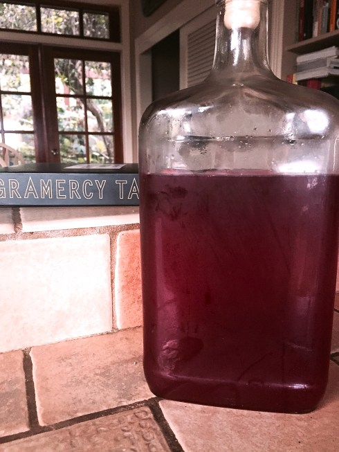 My jug of Cranberry Syrup for the holidays