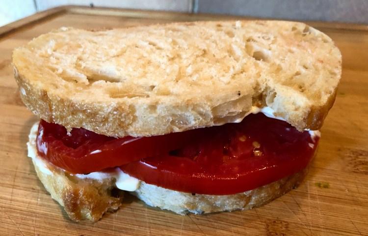 Tomato and Mayo sandwich