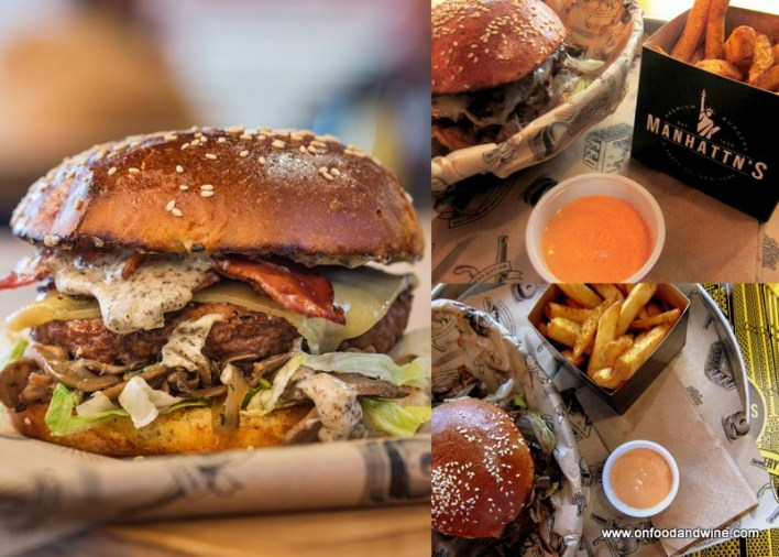 trying out delicious #burgers at @Manhattns in #Brussels by @onfoodandwine