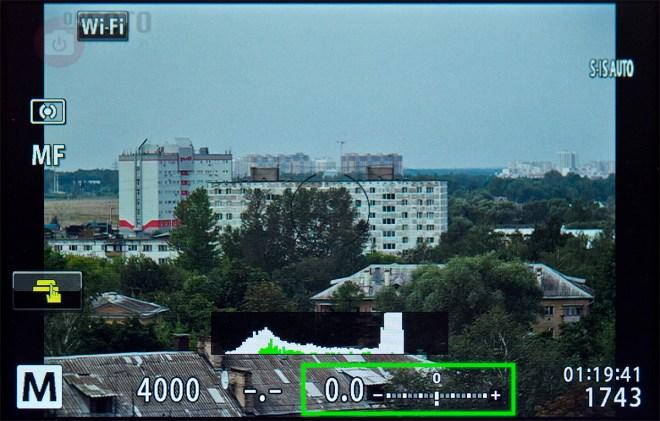 Дисплей камеры (корректная экспозиция)