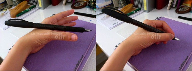 Maybelline's Law of Gravity of the Pen. The Centre of Gravity has to fall in the Area between Thumb & Forefinger