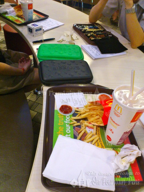 Pen discussions over a McDonalds' meal