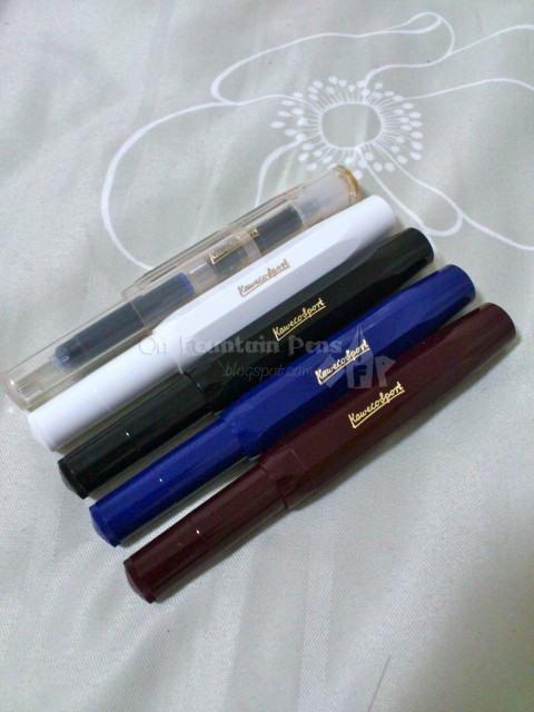 Kaweco Sport in clear, white, black, blue and Bordeaux