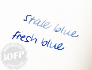 Herbin stale-blue-vs-fresh-blue