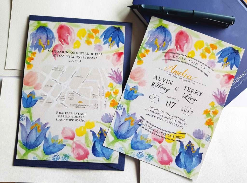 Ong Lai Art - Custom Illustration - Wedding Invitation - AT