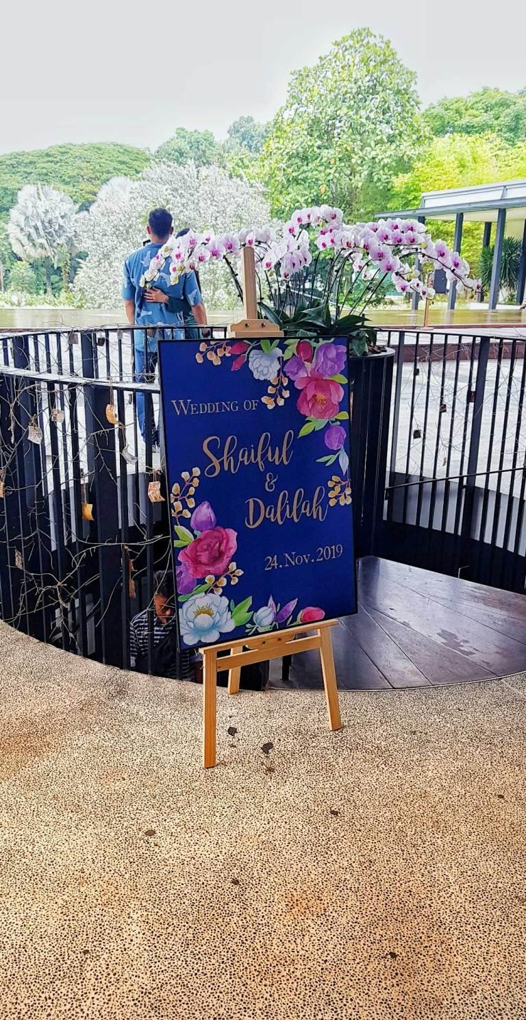 Custom Illustration - Wedding Welcome Board for Shaiful