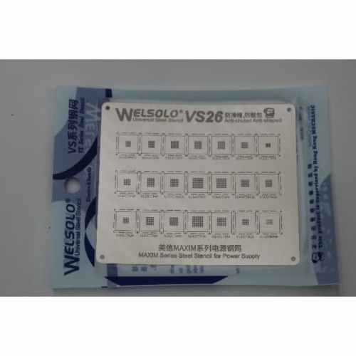 CETAKAN IC WELSOLO VS26 FOR MAXIM IC POWER SUPPLY SERIES