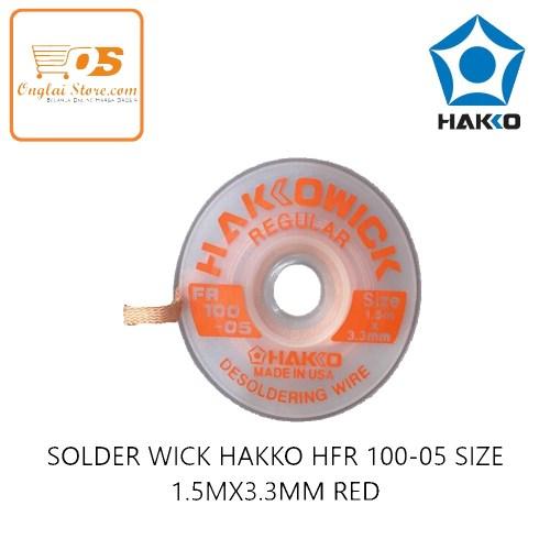 TOOL'S SOLDER WICK HAKKO HFR 100-05 SIZE 1.5M X3.3MM RED ORIGINAL