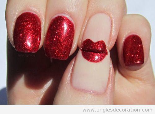 L Vres Pailletes Rouges Dessin Ongles D Coration D 39 Ongles Tout Sur Le Nail Art La