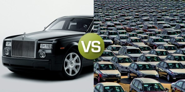 Rolls Royce vs average cars