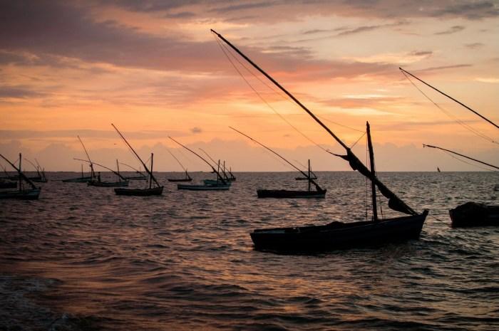 Fishing boats near Maputo