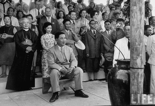 1957 President Ngo Dinh Diem visits Vietnam Central Highlands