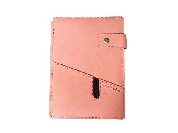 a5 covered notebook bubblegum colour
