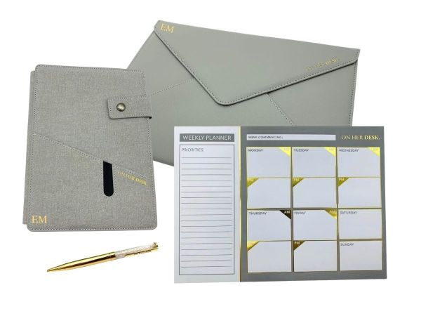 Grey signature collection stationery bundle