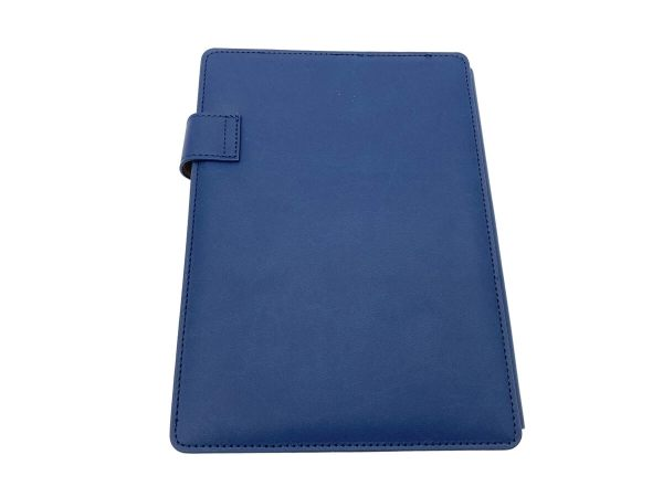 A5 covered notebook navy blue back cover