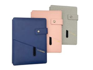 A5 covered notebook in three trendy colours